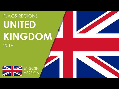 Flags regions United Kingdom 2018: Countries, dependencies and overseas territory