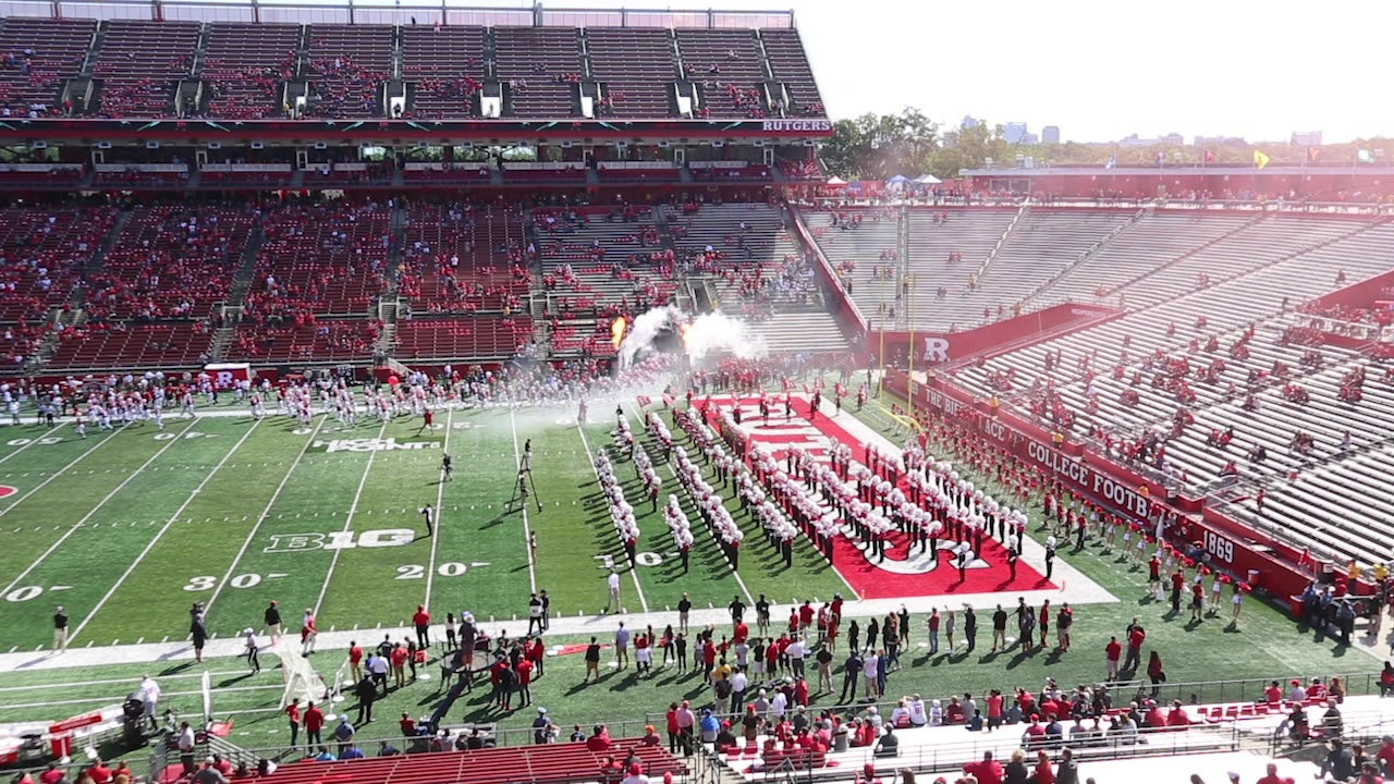 rutgers football introduction at highpoint com stadium youtube