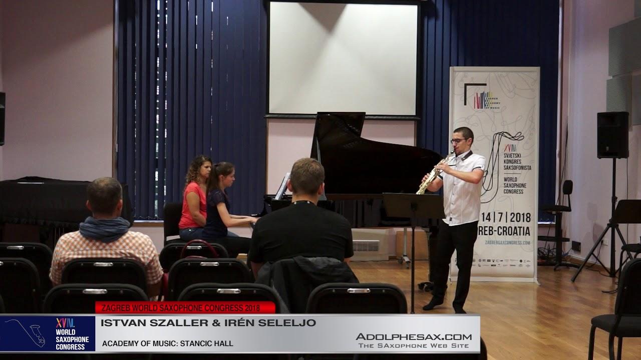 Sonata Op 21 by Erno Dohnanyi   Istvan Szaller & Iren Seleljo   XVIII World Sax Congress 2018 #adolp
