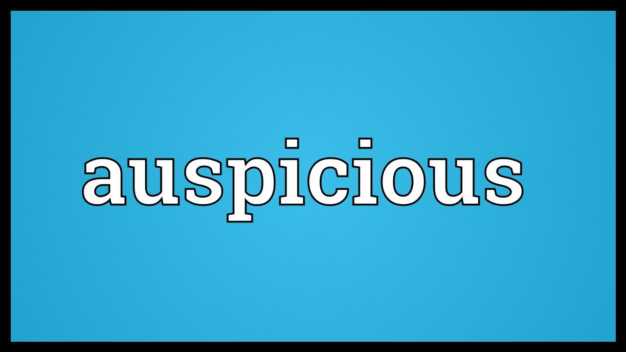 Auspicious Meaning - YouTube