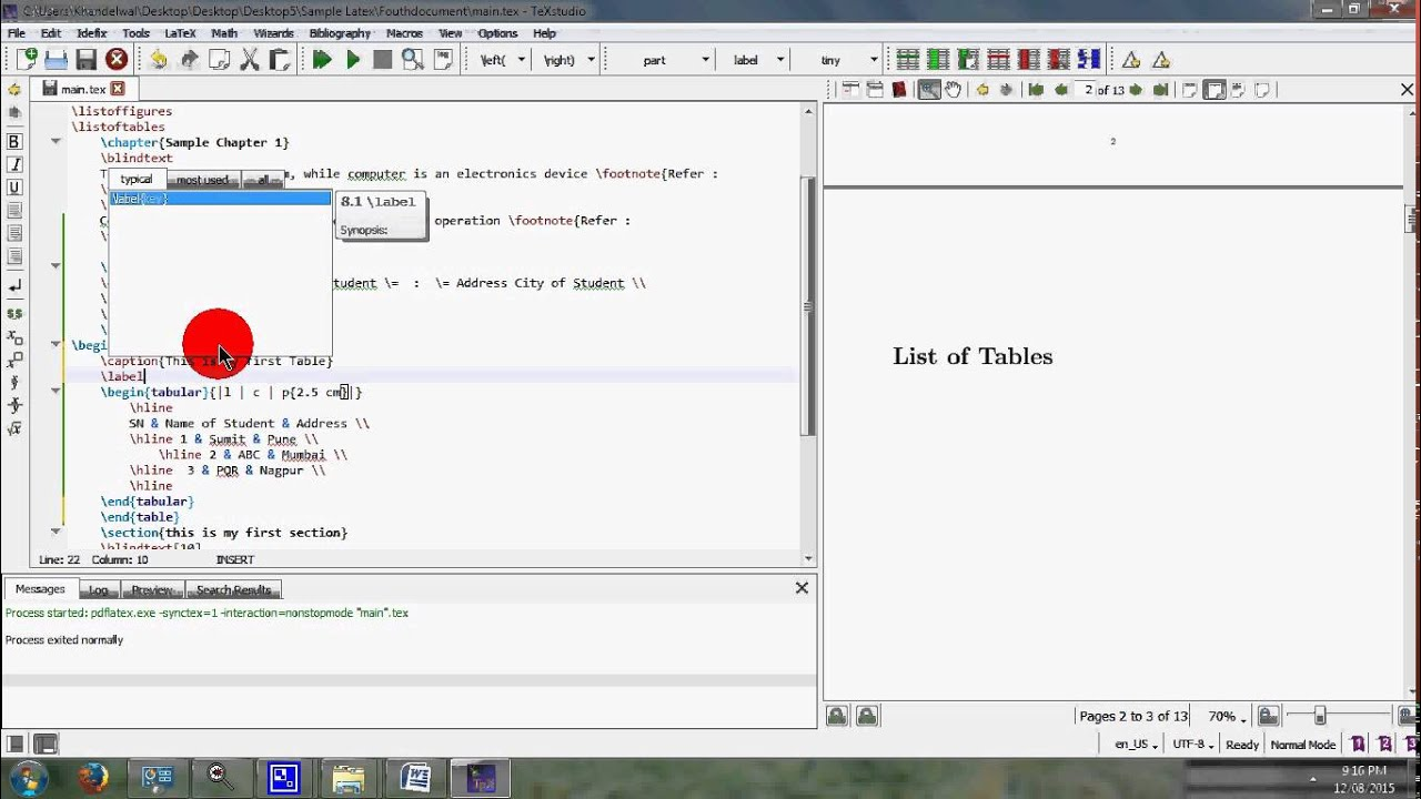 figure numbering subsection Latex