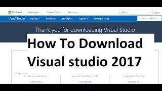 How To Download Visual Studio 2017 Free In Urdu/Hindi