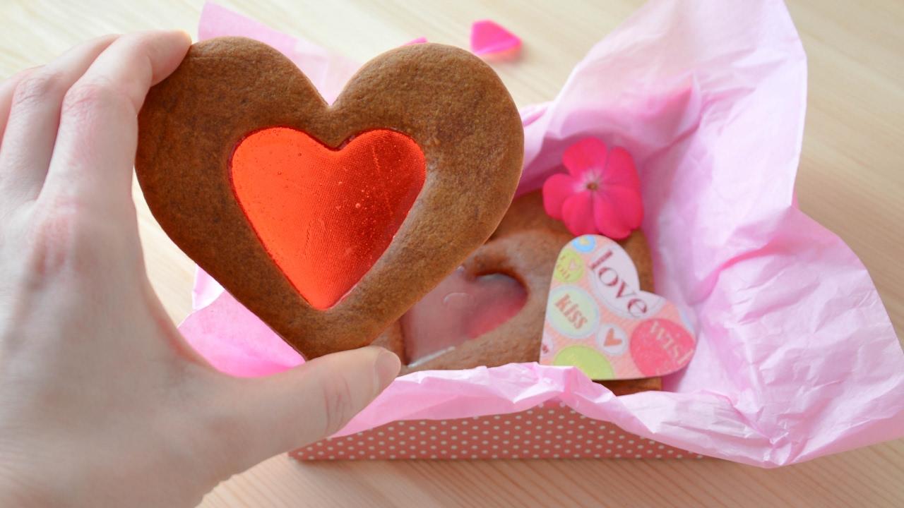 Имбирное печенье с карамельным центром ☆ Подарки на 14 февраля