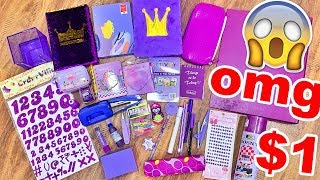 FINALLY A STATIONERY HAUL!!! I buy only *PURPLE* stationery challenge! Starting ₹5 ONLY | Heli Ved