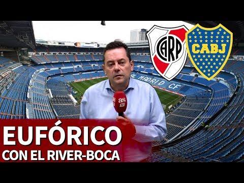 Roncero, eufórico con el Superclásico: 'El Bernabéu, santuario del fútbol mundial'