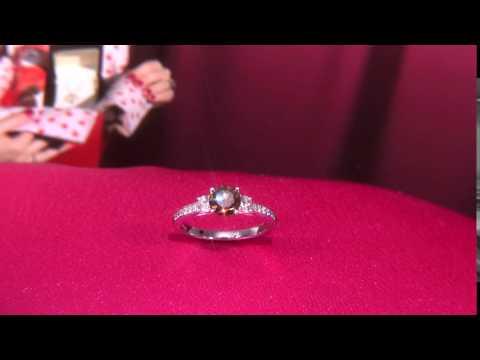 Chocolate 3 Diamond Ring