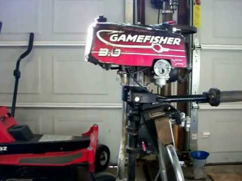 1996 Sears Gamefisher 3hp Air Cooled Outboard Motor Youtube