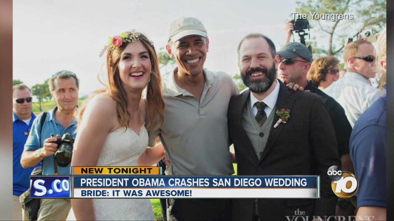 President Crashes San Go Wedding