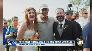 President Obama crashes San Diego wedding