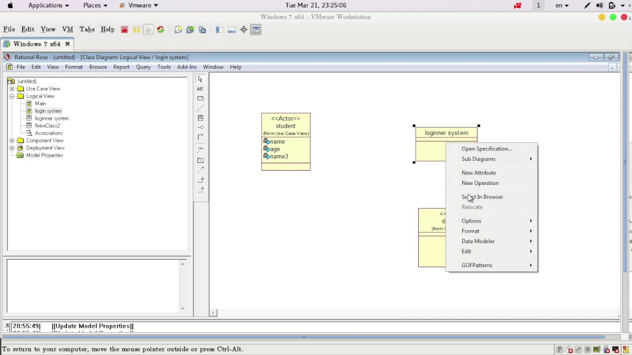 7 Create Class Diagram In Rational Rose Youtube