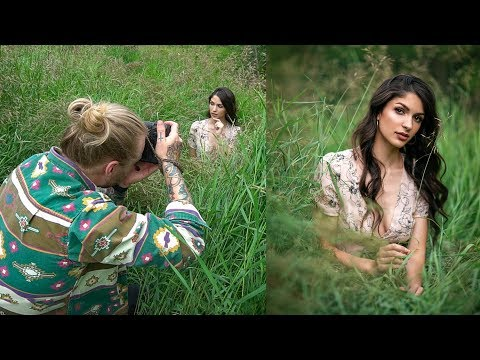 natural-light-photoshoot-in-the-field,-behind-the-scenes