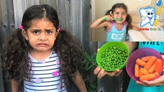 Yes Yes Vegetables and BRUSH YOUR TEETH!! Nursery Rhymes Songs for Kids