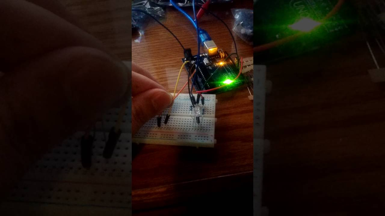 Using The Photoresistor With An Rgb Led Arduino Programming Youtube Wiring