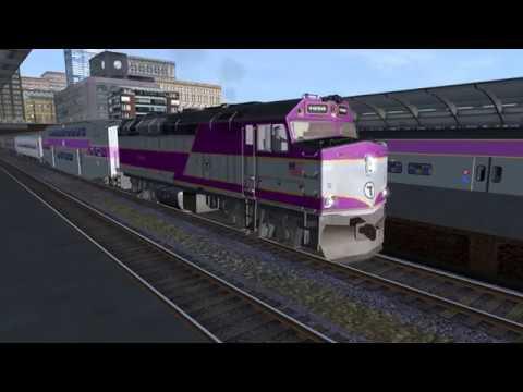 Trainz Simulator: MY NEW MBTA F40PHM 2C HORN AND LOCO!!!