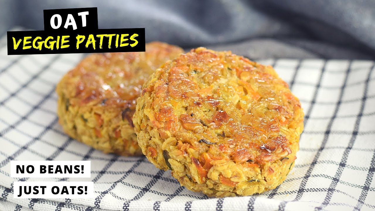 VEGGIE PATTIES that I made with OATS!