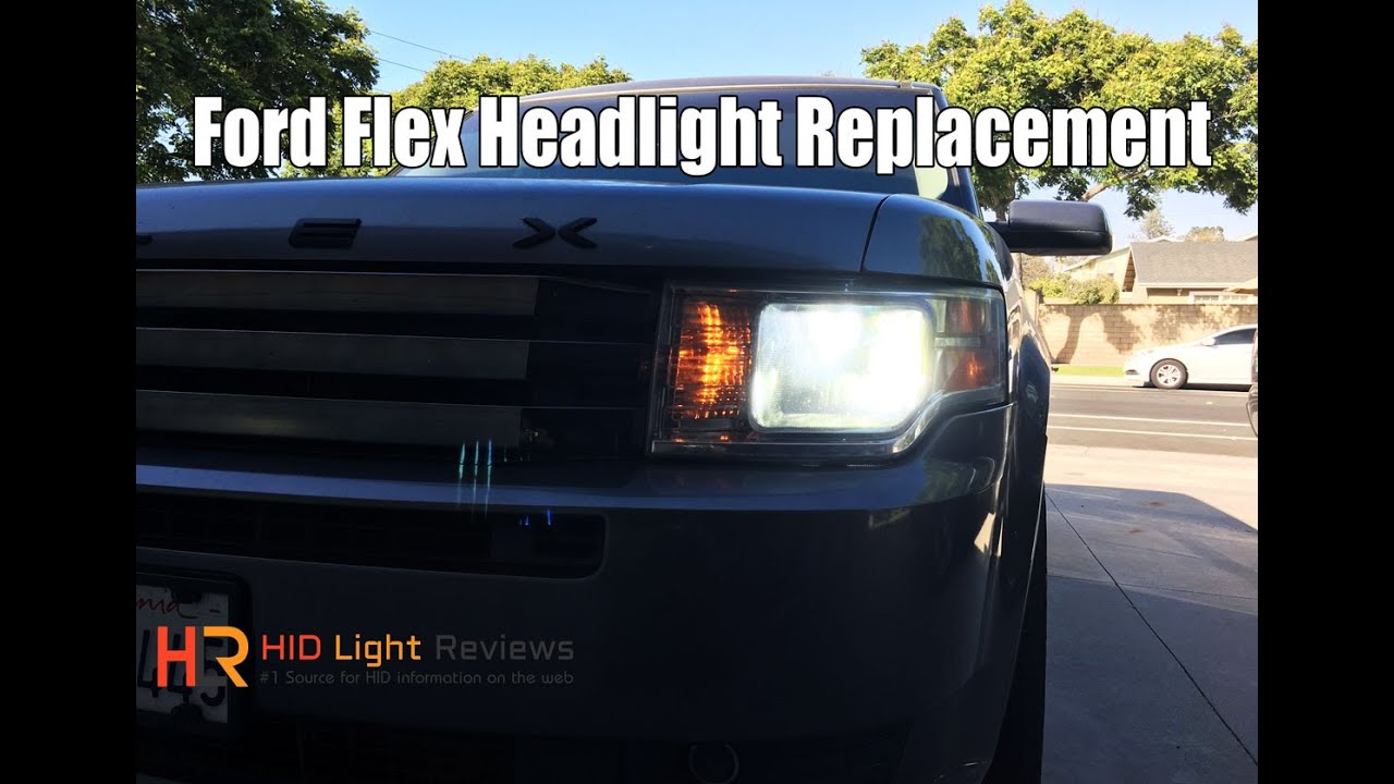 Led Replacement Headlight Bulbs >> How To Install / Replace Ford Flex Headlights | LED