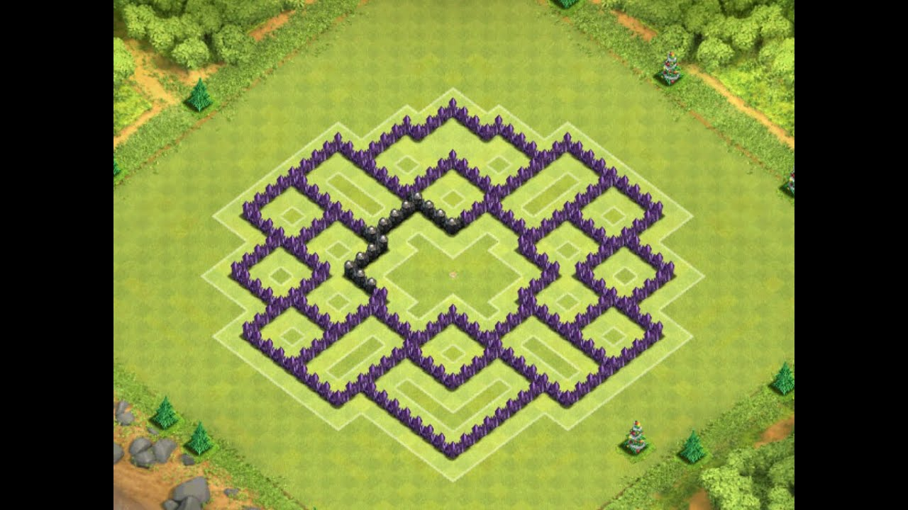 Clash Of Clans Best Th8 Hybrid Base Tower Effective Traps Protects Loot 2019 Tornado