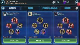 G12 Rebels defeat relic 2 g13 dual Zeta Malak Sith empire SWGOH Squad Arena