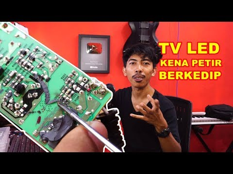 TV LED Kena Petir Berkedip - VLOG130