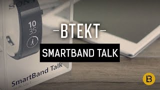 Sony SmartBand Talk unboxing video