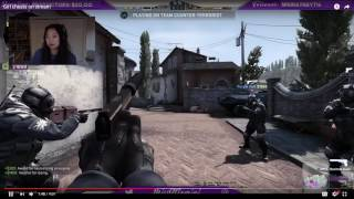 Girl live streaming catch cheating on cs.go