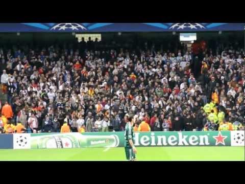 Los aficionados del Real Madrid
