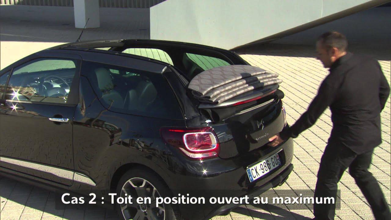 ds3 cabrio mise en main coffre youtube