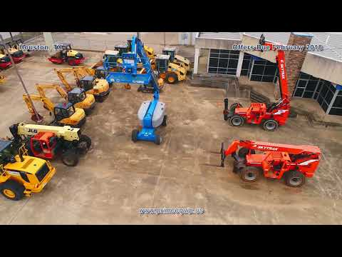 Aerial Of Construction Equipment Liquidation In Houston, TX