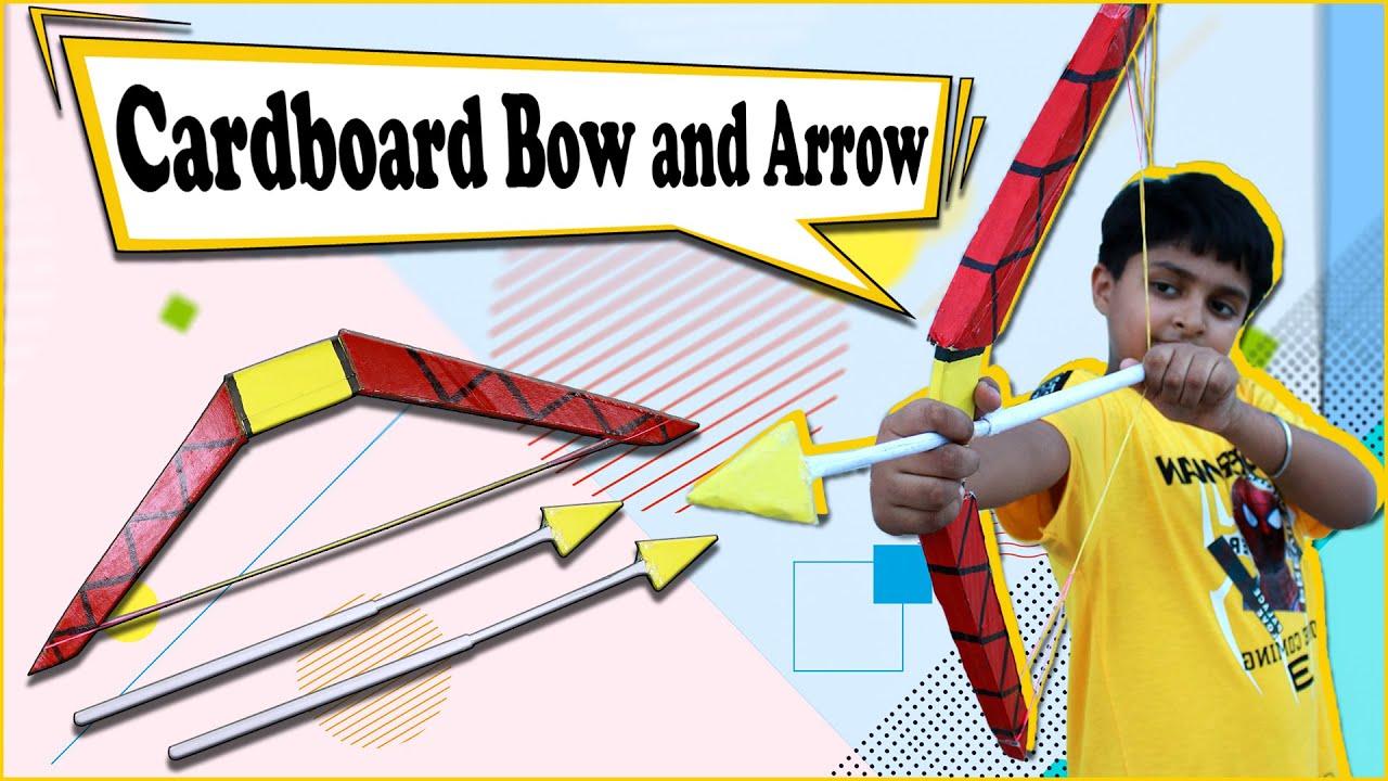 How to Make Cardboard Bow and Arrow (Dhanush Baan)   Easy Cardboard Craft   Cardboard DIY