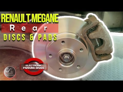 Electronic Parking Brake Rear Discs and Pads Replacement MaxiCom MK908P   RENAULT MEGANE GT Line EPB