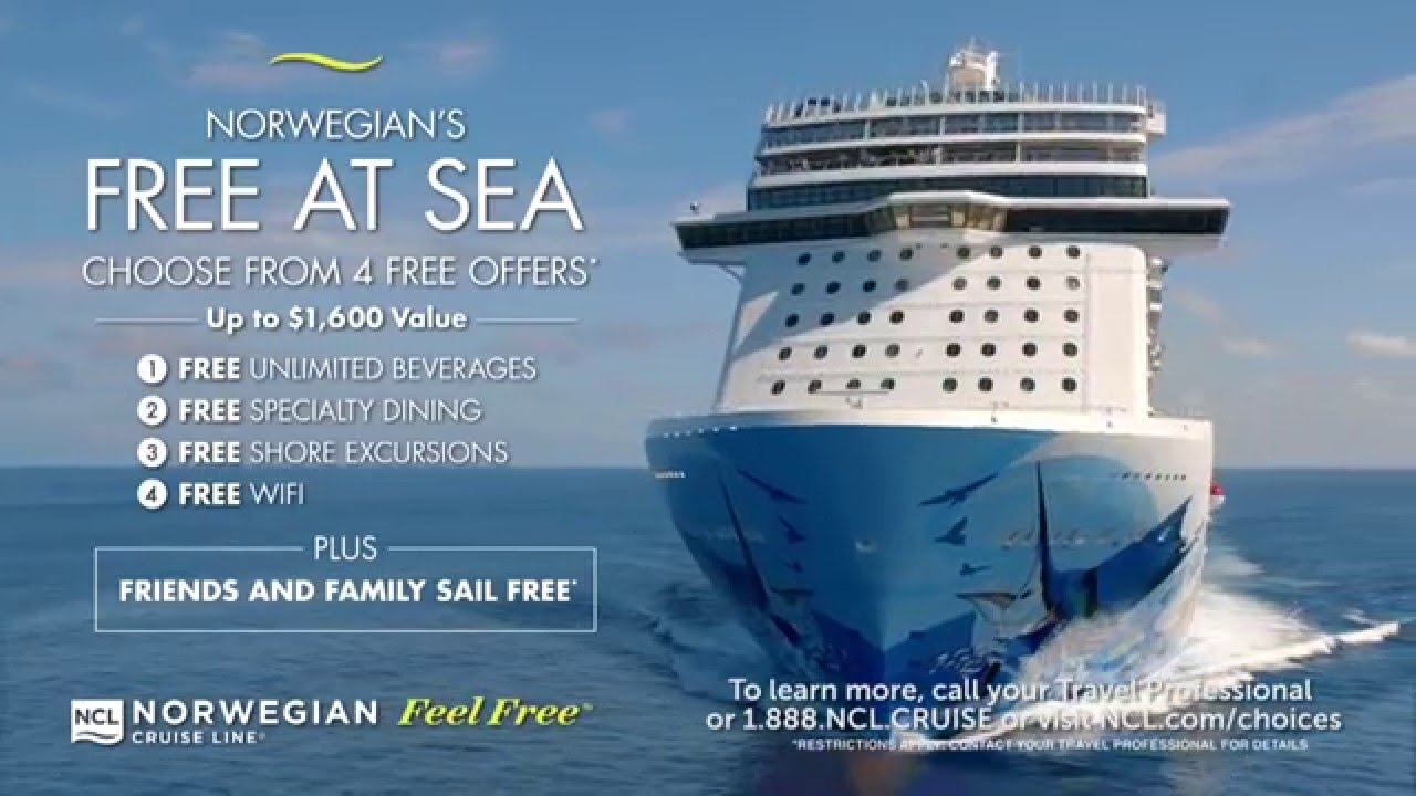NCL Free Promotions YouTube - Cruise ship promotions