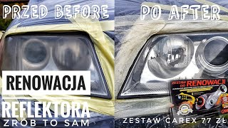Polishing of front headlights without painting and dismantling - CAREX | ForumWiedzy PL