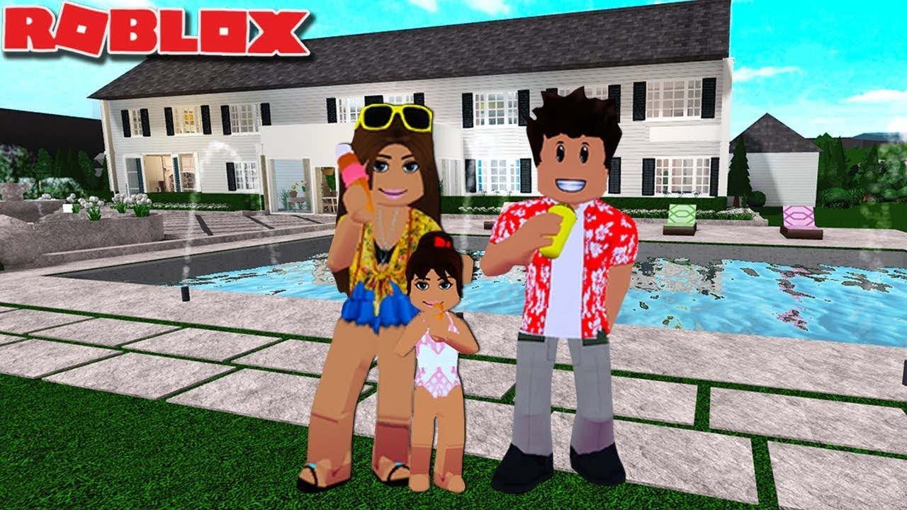 Our Family Summer Routine In Bloxburg Roblox Roleplay Youtube