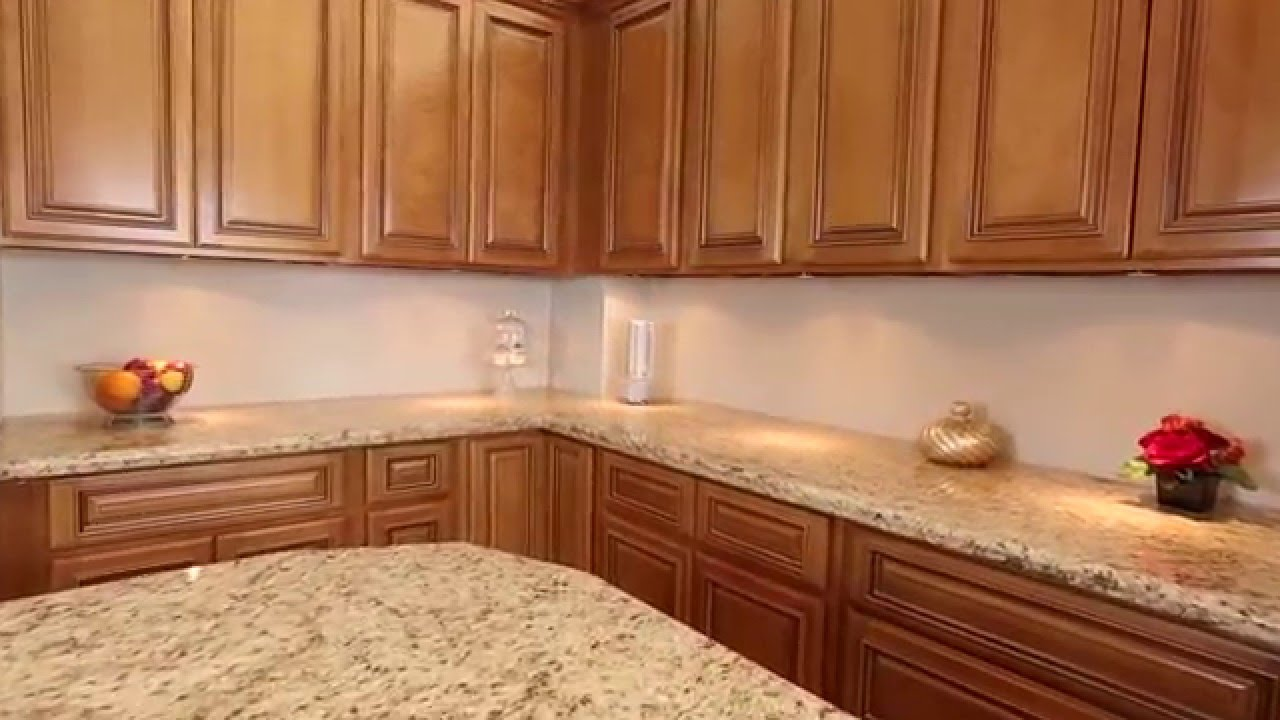 Maple Glaze Kitchen Cabinets - Summit Cabinets - YouTube