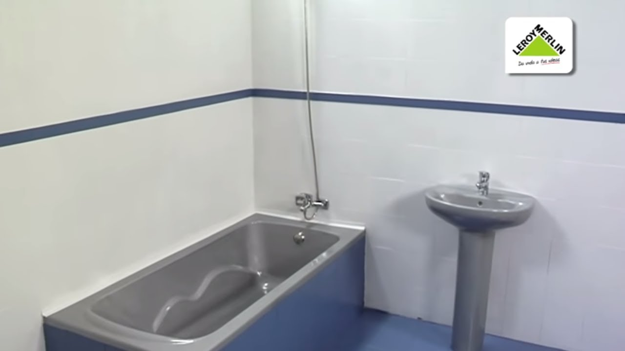 Renovar paredes suelos encimeras y muebles con resina de pintura leroy merlin youtube - Pintura para azulejos leroy merlin ...