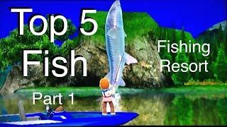 Top 5 Fish - Fishing Resort Wii - part 1