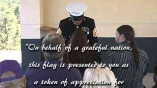 Indigo Images Video Demo - Memorial Service for a US Marine - Igo, California