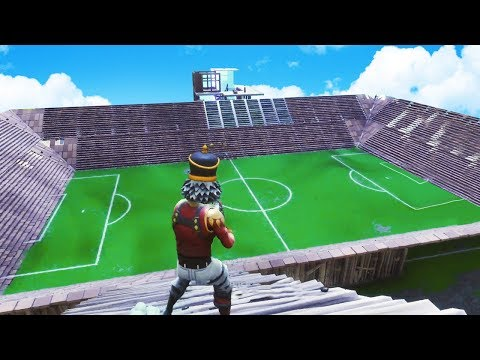 BUILDING A STADIUM in Fortnite Battle Royale