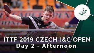 2019 ITTF Czech Junior & Cadet Open | Day 2 Afternoon