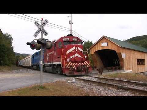 Vermont Train Chase: Green Mountain Train 263 - Fall 2013