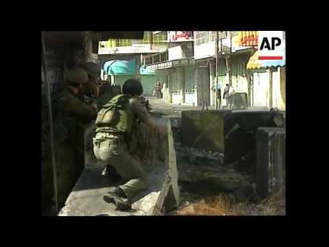 WEST BANK: HEBRON: ISRAELI-PALESTINIAN CLASHES UPDATE
