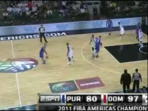 Dominicana vs Puerto Rico 103-89 FIBA America 2011