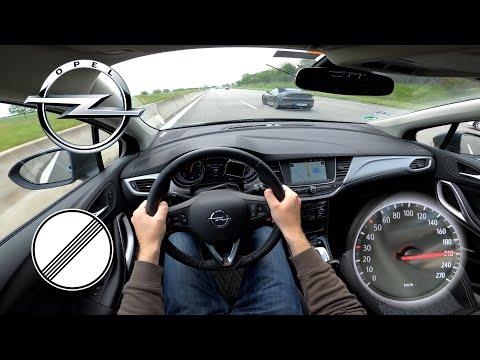2020 Opel Astra 1.4 Turbo CVT (145HP) | TOP SPEED ON GERMAN NO LIMIT AUTOBAHN | 225km/h