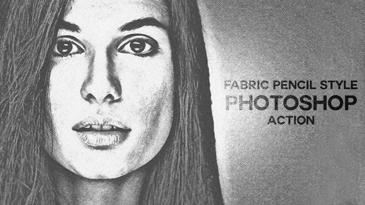 Fabric pencil sketch photoshop action tutorial