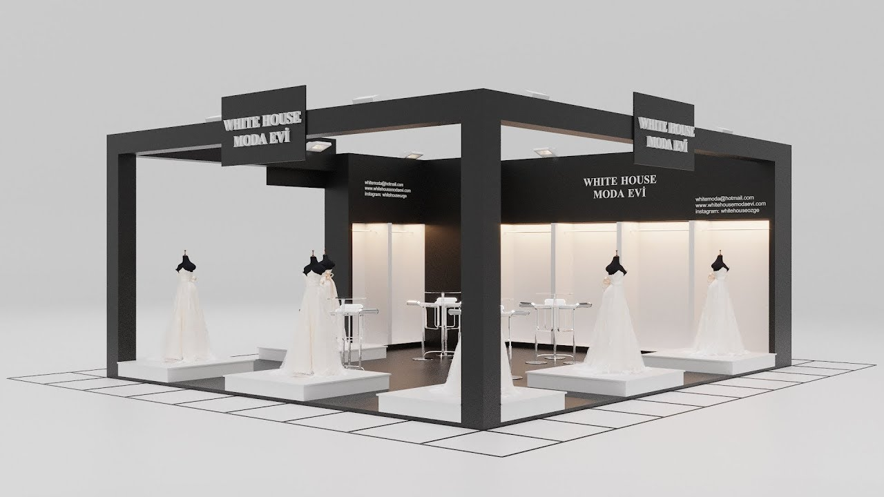 Exhibition Stand White : How to make exhibition stand design dsmax corona render youtube