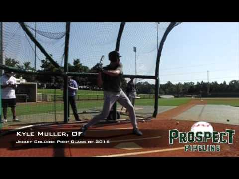 Kyle Muller, OF, Jesuit College Prep School, Swing Mechanics at 200 fps #TOS15