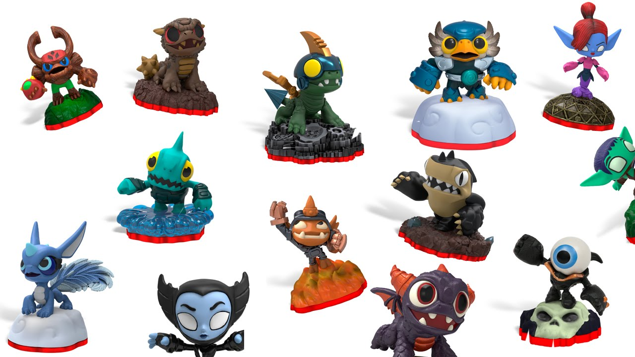 skylanders trap team mini charactersfigures