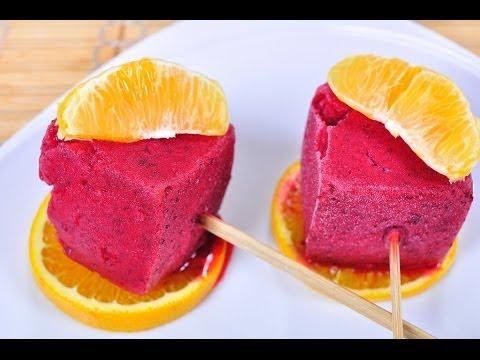 แครนเบอรี่ส้มซอร์เบท์ Orange Cranberry Popsicle