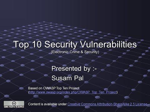 Top 10 Security Vulnerabilities