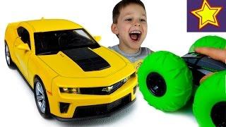 Машинки Welly Шевроле Камаро Распаковка и обзор игрушки Kids welly toys unboxing